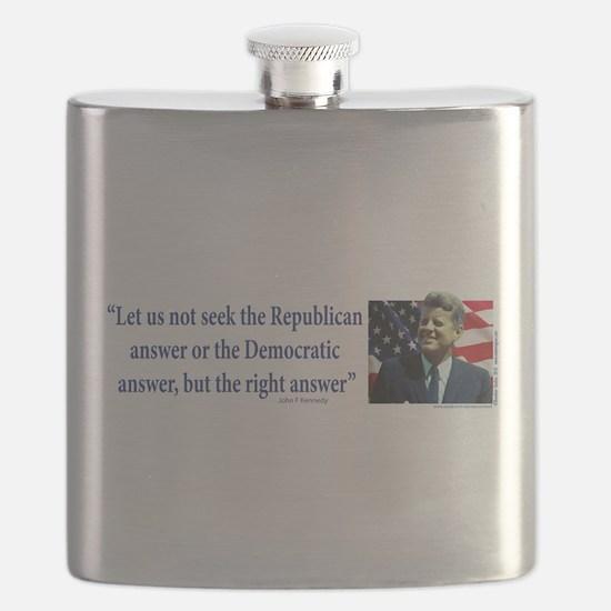 John F Kennedy Flask