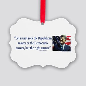 John F Kennedy Ornament