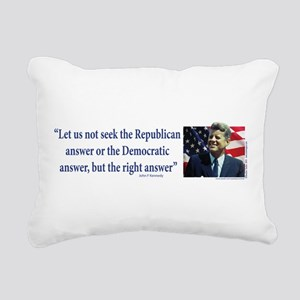 John F Kennedy Rectangular Canvas Pillow