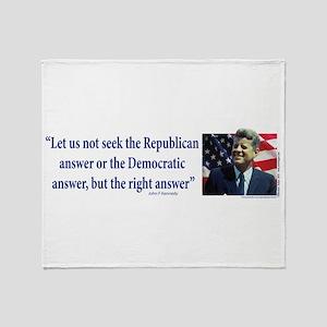 John F Kennedy Throw Blanket