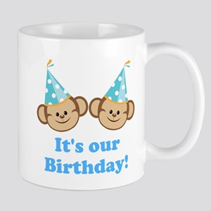 Twins Birthday Monkeys Boys Mug