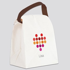 I Heart Lisa Canvas Lunch Bag