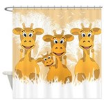 Giraffes Shower Curtain