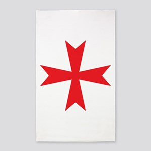 Templars maltese cross 3'x5' Area Rug