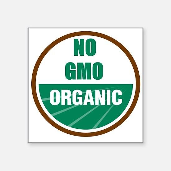 """No Gmo Organic Square Sticker 3"""" x 3"""""""