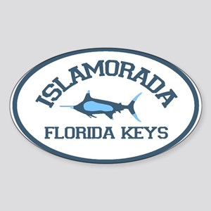 Islamorada - Fishing Design. Sticker (Oval)