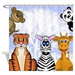Zoo Animals Shower Curtain