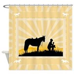Praying Cowboy Shower Curtain