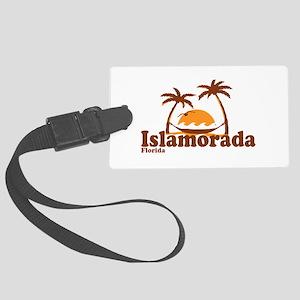 Islamorada - Palm Trees Design. Large Luggage Tag