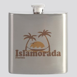 Islamorada - Palm Trees Design. Flask
