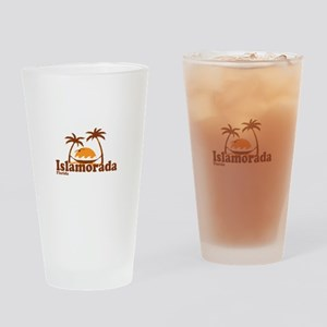 Islamorada - Palm Trees Design. Drinking Glass