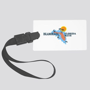 Islamorada - Map Design. Large Luggage Tag