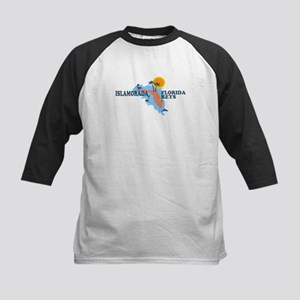 Islamorada - Map Design. Kids Baseball Jersey