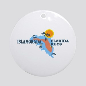 Islamorada - Map Design. Ornament (Round)
