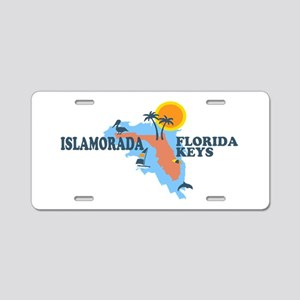 Islamorada - Map Design. Aluminum License Plate