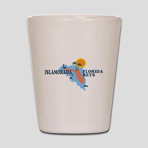 Islamorada - Map Design. Shot Glass