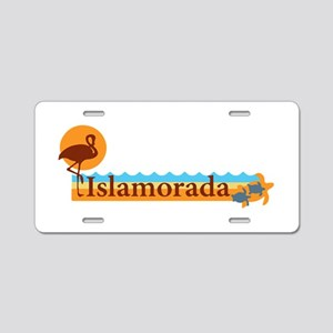 Islamorada - Beach Design. Aluminum License Plate