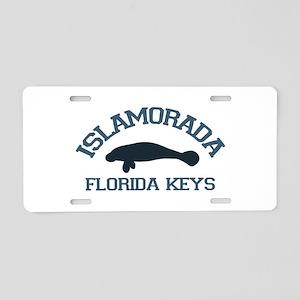 Islamorada - Manatee Design. Aluminum License Plat