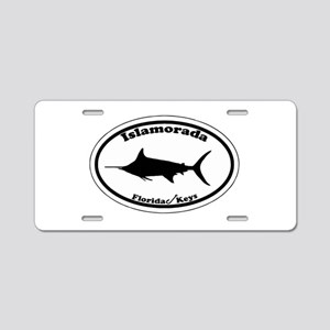 Islamorada - Oval Design. Aluminum License Plate