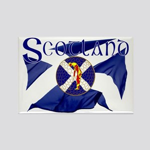 Scotland golf flag Rectangle Magnet