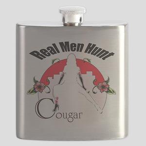 Real men hunt cougar Flask