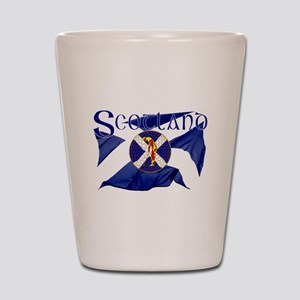 Scotland golf flag Shot Glass