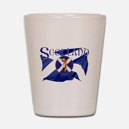Scotland golf flag Shot Glass