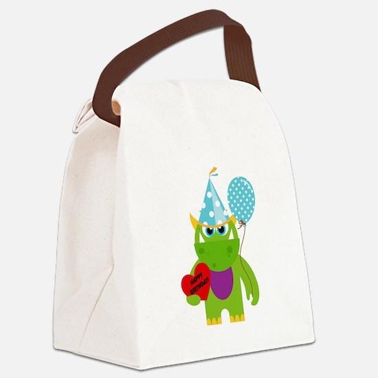 Birthday Monster Canvas Lunch Bag