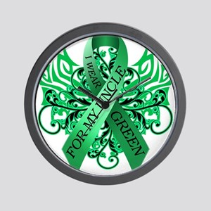 I Wear Green for my Uncle Wall Clock
