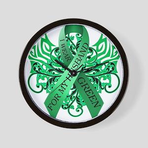 I Wear Green for my Husband Wall Clock