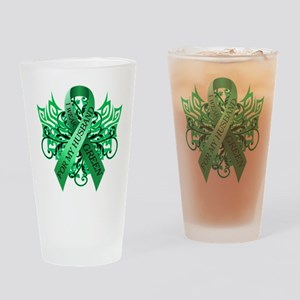 I Wear Green for my Husband Drinking Glass