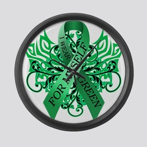 I Wear Green for Myself Large Wall Clock