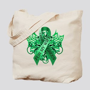 I Wear Green for my Wife Tote Bag