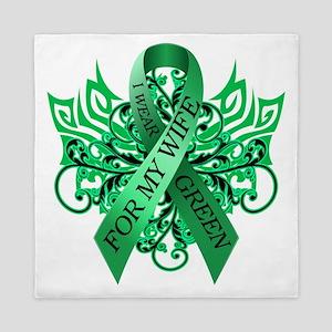 I Wear Green for my Wife Queen Duvet
