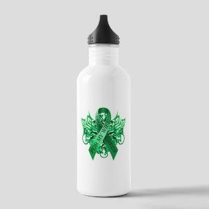 I Wear Green for my Wife Water Bottle