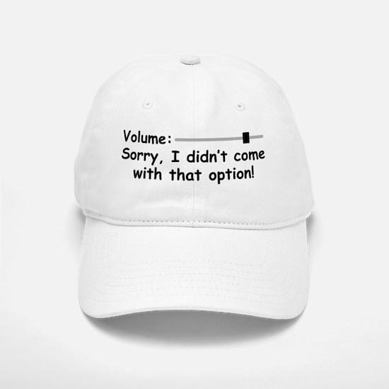 Volume Control Baseball Baseball Baseball Cap
