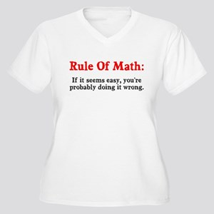 Rule of Math Women's Plus Size V-Neck T-Shirt
