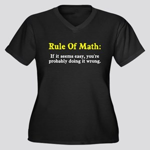 Rule of Math Women's Plus Size V-Neck Dark T-Shirt