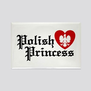 Polish Princess Rectangle Magnet