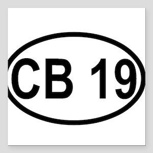 "CB Channel 19 Square Car Magnet 3"" x 3"""