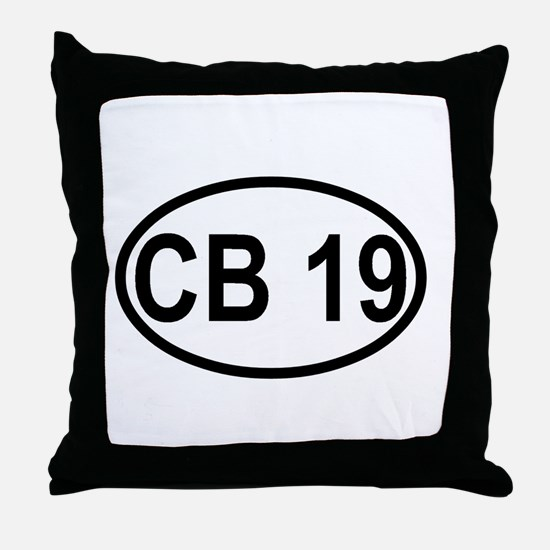 CB Channel 19 Throw Pillow