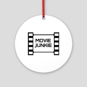 movie junkie Ornament (Round)