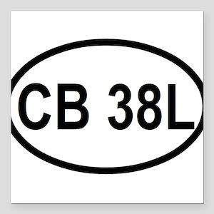 """CB 38L Square Car Magnet 3"""" x 3"""""""