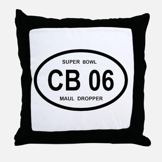 CB 06 SUPERBOWL Throw Pillow