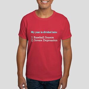 Baseball Severe Depression Dark T-Shirt