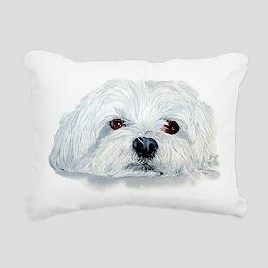 Bogart the Maltese Rectangular Canvas Pillow