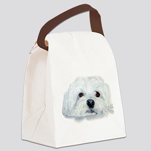 Bogart the Maltese Canvas Lunch Bag