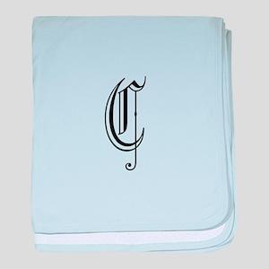 Blackletter Monogram C baby blanket