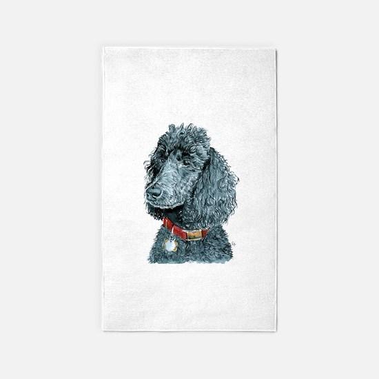 Black Poodle Whitney 3'x5' Area Rug