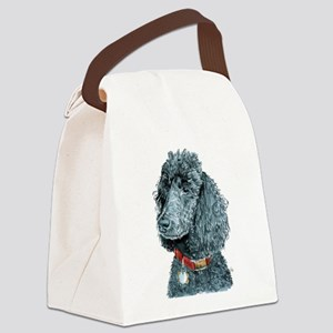 Black Poodle Whitney Canvas Lunch Bag